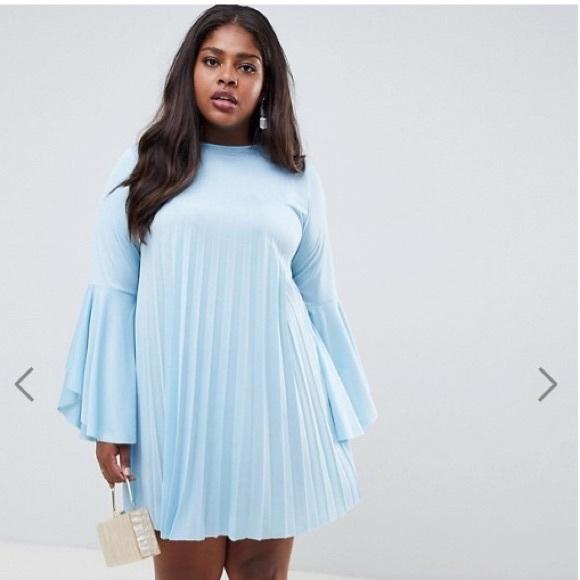 ASOS Curve Dresses   Sky Blue Plus Size Swing Dress   Poshmark